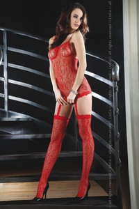 Cicaruha, Catriona red bodystocking S/L