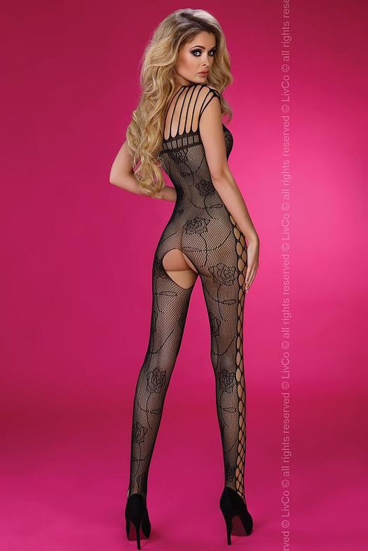 Althina bodystocking, fekete cicaruha S/L