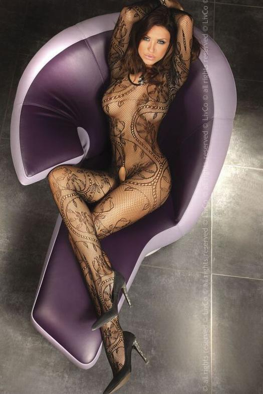 Luxus fehérnemű, Bodystocking Abra black S/L
