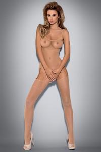 Vállpántos kivitelű erotikus fehérnemű, mely alul nyitott body-ból és combfixből áll. A cicaruha két része vékony pántokkal kapcsolódik össze. A...
