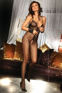 Erotikus cicaruha, Eleftheria Bodystocking, black S/L
